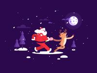 Santa + Deer = Tango