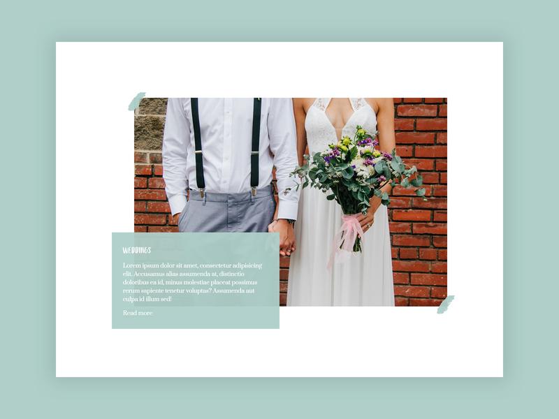 Wedding photographer portfolio - WIP