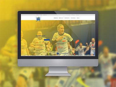 WordPress Website UHC Dietlikon bootstrap team club floorball yellow blue wordpress redesign