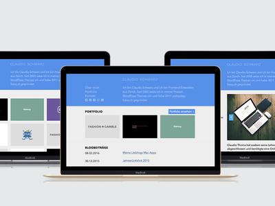claudioschwarz.com WordPress Blog and Portfolio