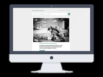 Karrierefrau switzerland women career bootstrap css sass html blog wordpress portfolio cv