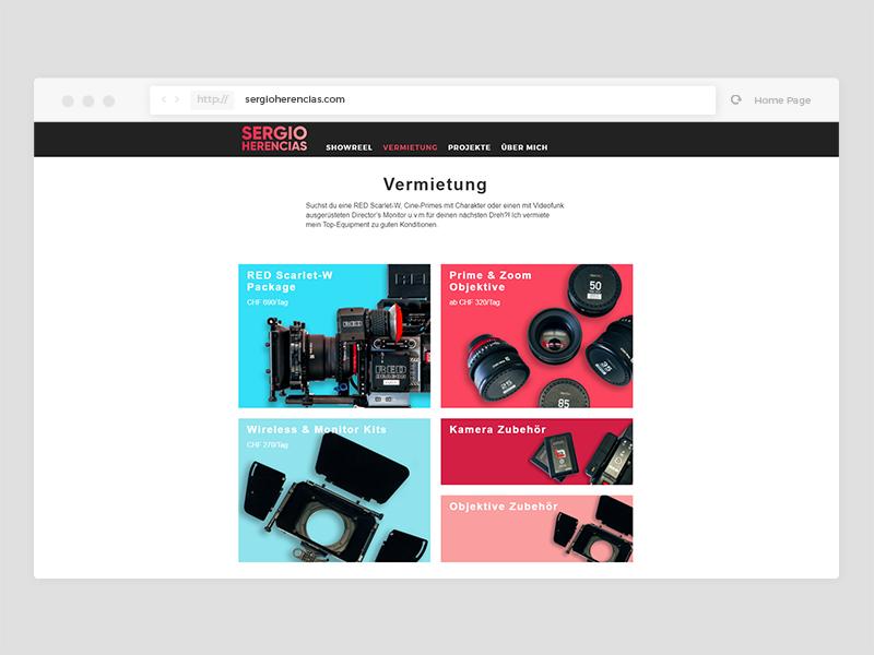 Sergio Herencias - WordPress Theme (WIP) rental grid portfolio wordpress html sass css tiles layout responsive website