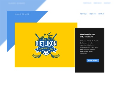Portfolio Startpage UI frontend webdesign web design ui angle blue minimalistic concept sass html portfolio