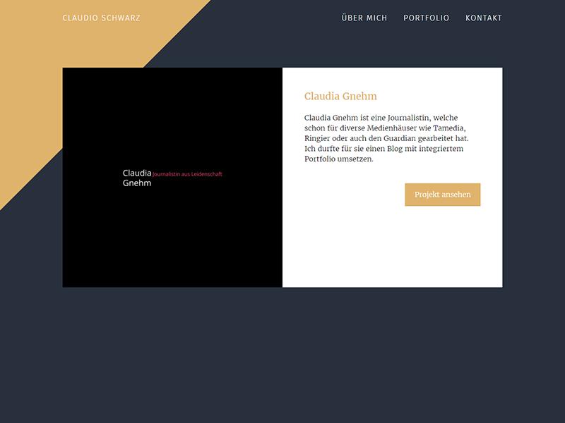 Portfolio Startpage UI flexbox html sass bootstrap blue gold wordpress startpage ui