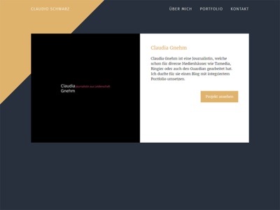 Portfolio Startpage UI