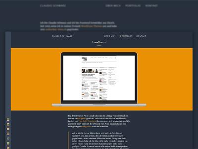 WordPress Portfolio Detail UI ui portfolio wordpress gold blue bootstrap sass html flexbox