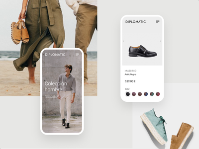 Diplomatic Brand - Ecommerce white design store shop ecommerce ux interface ui clean jonanderp