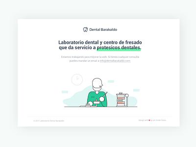 Dental Barakaldo white ux ui jonanderp green interface desktop clean dental illustration website