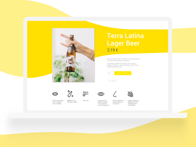 Terra Latina jonanderp icons white ux ui shop yellow interface ecommerce clean website beer