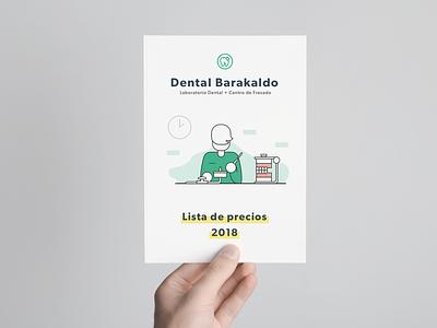 Flyer for Dental Barakaldo branding brand illustration dental clean green jonanderp graphic design flyer white