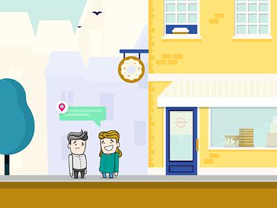 My Bakery bakery street building city character illustration jonanderp