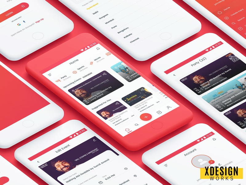 Areuin App Design xdesignworks typography icon flat signup payment form ux login checkout design appdesign app ui