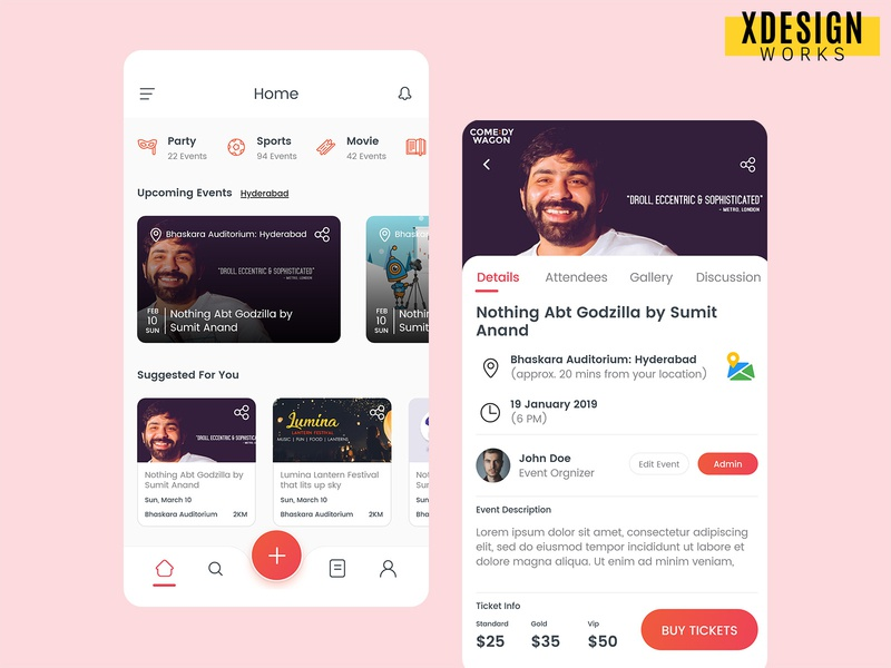 Areuin App Screens group areuin areuin app ticket ticket booking event checkout design appdesign app ui