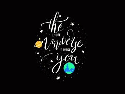 The Entire Universe Is Inside You inside galaxy stars illustration inpiration universe
