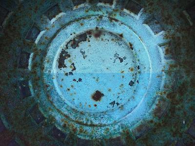 Polar photo photograph iphonography blue cyan manhole retouch