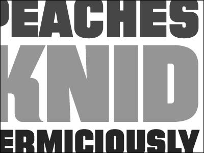Knid, Vermiciously typedia type typeface specimen grey gray gem filmotype sans grotesk grotesque marksimonson roalddahl