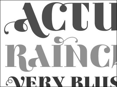 Actual Rainclouds ambicase fatface serif swash type typeface typography typographica specimen craigeliason