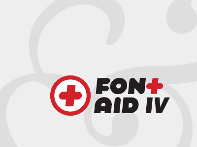 Font Aid Splash fontaid sota typography baskerville ampersand email grey gray red