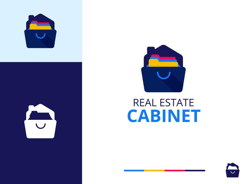 Real Estate Cabinet Icon real estate branding icon design icon cabinet real estate logo real estate