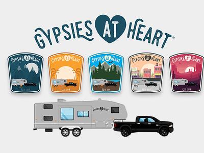 Gypsies at Heart - Desert - Badge Design 🌵 badgedesign badge logodesign logos brand brand design traveling