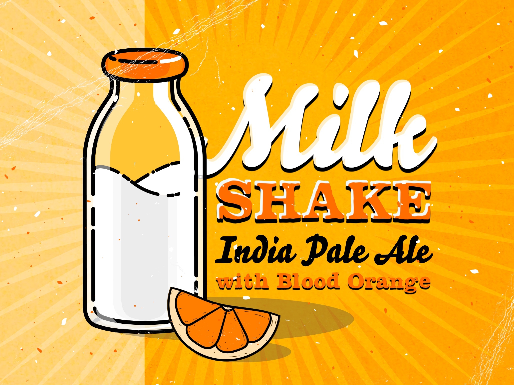 Milkshake IPA with Blood Orange by Dave Finger on Dribbble