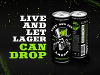 Live and Let Lager Can Drop