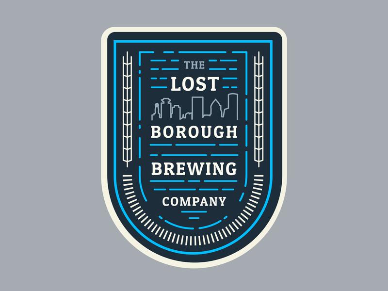 Borough Adventure Badge adventure beer branding brewery beer art lostboroughbrewing badge