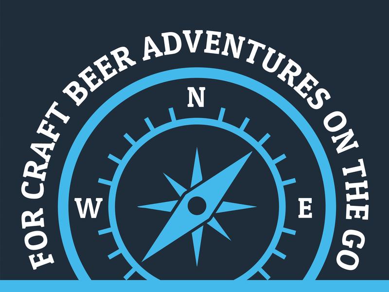 Craft Beer Adventures On The Go Emblem adventure compass emblem beer beer branding brewery beer art lostboroughbrewing