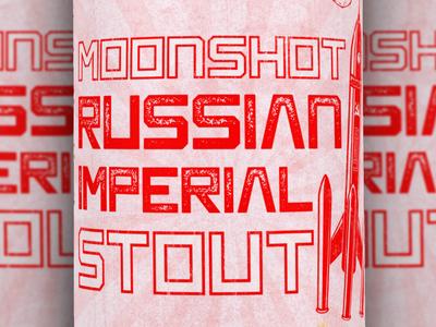 Closeup - Moonshot Russian Imperial Stout Label