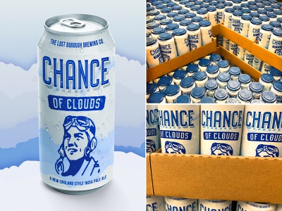 Chance of Clouds NIPA Can candesign india pale ale nipa chanceofclouds brewery beer beer branding beer art lostboroughbrewing