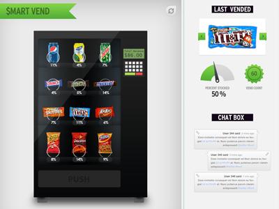 Smart Vending Mockup smart vending app mockup machine