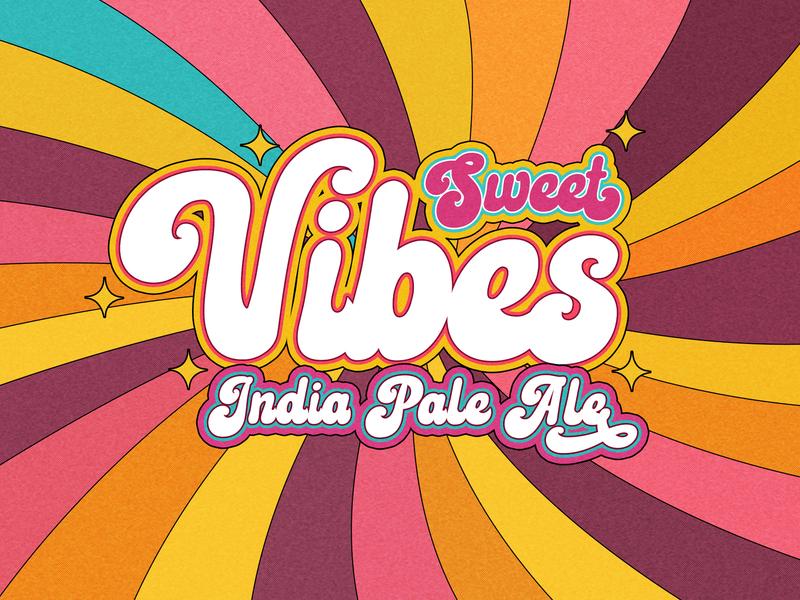 Sweet Vibes India Pale Ale sweetvibes sweetipa brewery beer beer branding beer art lostboroughbrewing