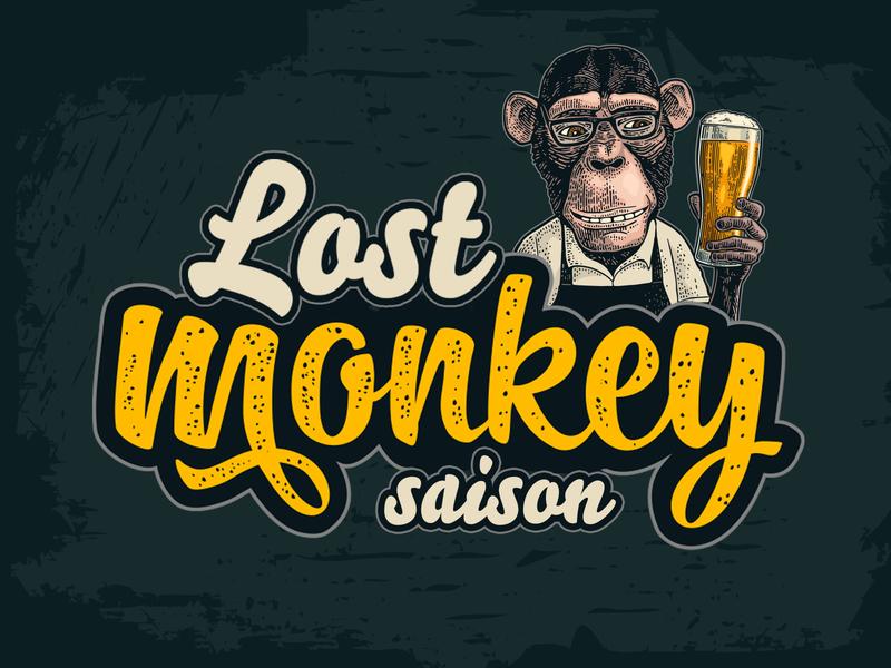 Lost Monkey Saison lostmonkey beer beer branding beer art brewery lostboroughbrewing