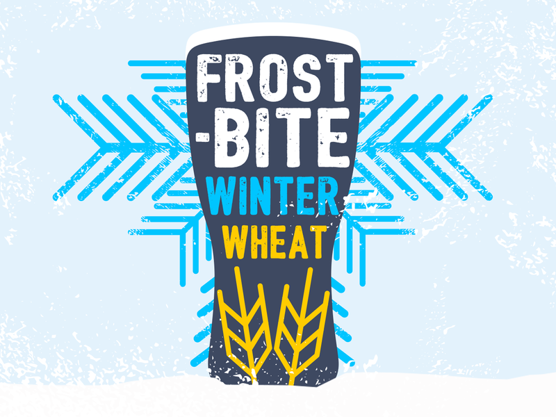 Frostbite Winter Wheat wheat winter frostbite beer beer branding beer art brewery lostboroughbrewing