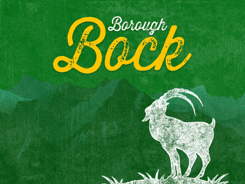 Borough Bock - A Full-bodied Dark Lager goat billy goat ein bock bock borough beer beer branding brewery beer art lostboroughbrewing
