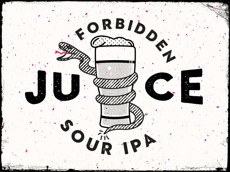 Forbidden Juice Sour IPA ipa sour forbiddenjuice beer beer branding brewery beer art lostboroughbrewing