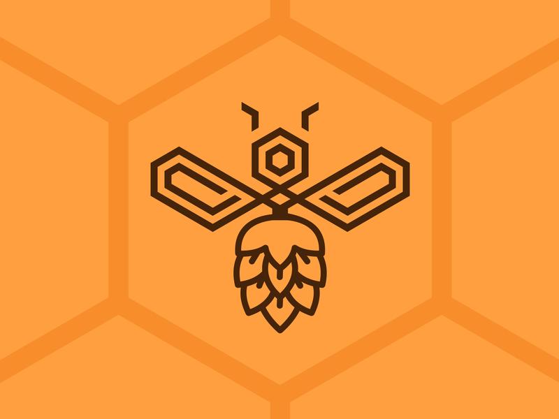 Bee Hoppy - Mother's Nectar Tangerine IPA 🍻🐝🍊 ipa tangerine hopbee mothersnectar beer brewery beer branding beer art lostboroughbrewing