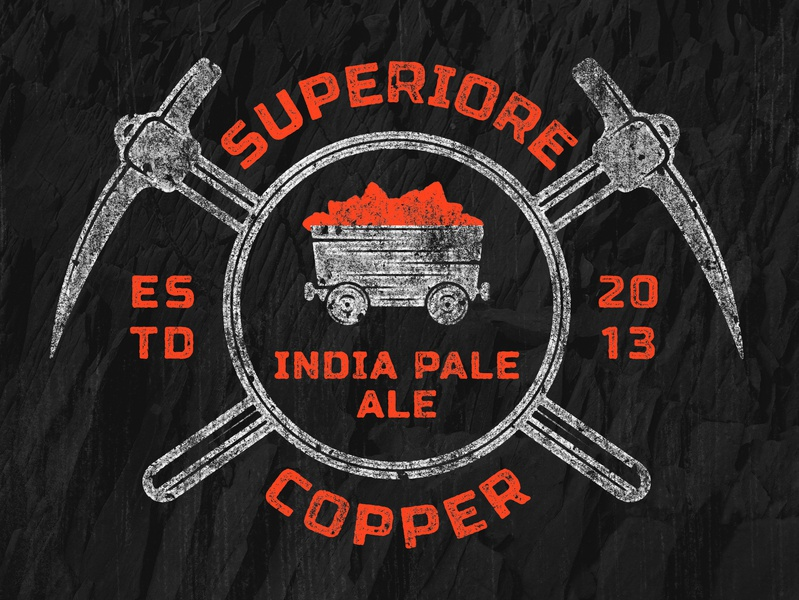 Superiore Copper IPA hops michigancopper india pale ale ipa copper superiore beer beer branding lostboroughbrewing brewery beer art