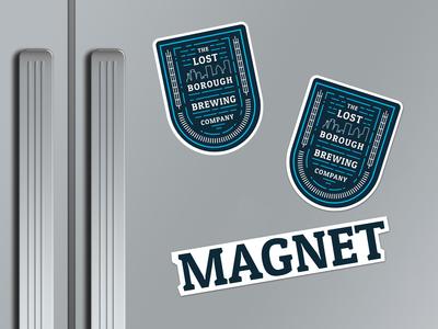 Borough Adventure Badge Magnets