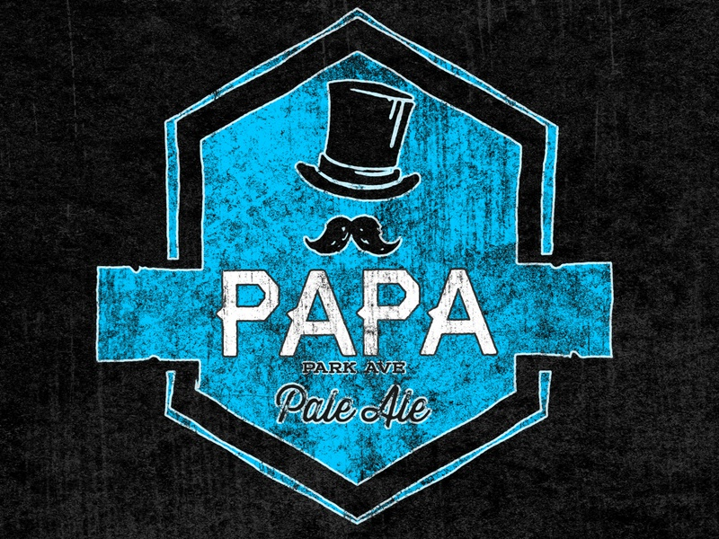 Park Ave Pale Ale - a.k.a PAPA 🎩🍺 papa ale pale pale ale ave park beer beer branding lostboroughbrewing brewery beer art