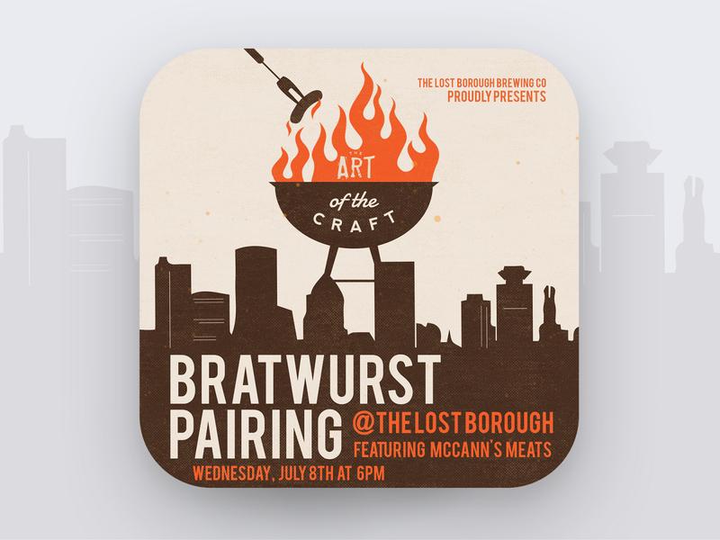 Art of The Craft - Bratwurst Pairing 🔥🌭🍻 artofthecraft meats pairing bratwurst beer branding lostboroughbrewing brewery beer art