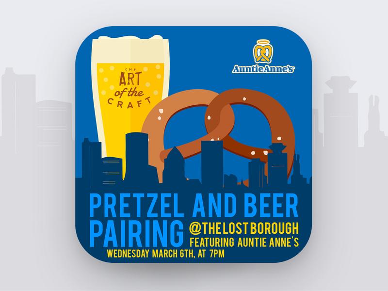 Art of The Craft - Artisanal Pretzel Pairing 🍻🥨 beerpairing pretzels artfthecraft beer beer branding lostboroughbrewing brewery beer art
