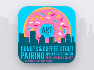 Art of The Craft - Donut and Coffee Stout Pairing 🍩☕️🍻 pairing stout coffee donuts donut beer beer branding lostboroughbrewing brewery beer art