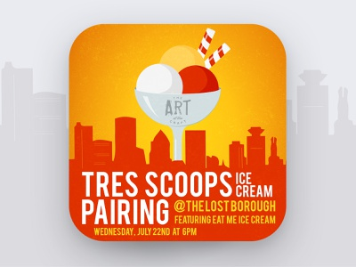 Art of The Craft - Ice Cream Pairing  🍨🍦🍻 pairing icecream scoops tres beer beer branding lostboroughbrewing brewery beer art