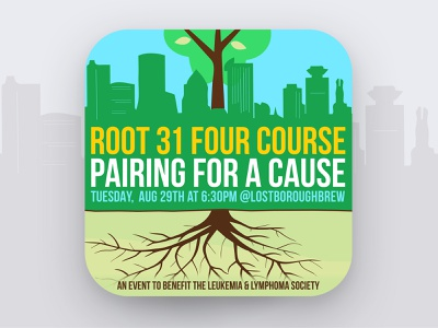 Art of The Craft - Root 31 Four-Course Pairing 🌳🍽🍻 fourcourse pairing tree root beer beer branding lostboroughbrewing brewery beer art