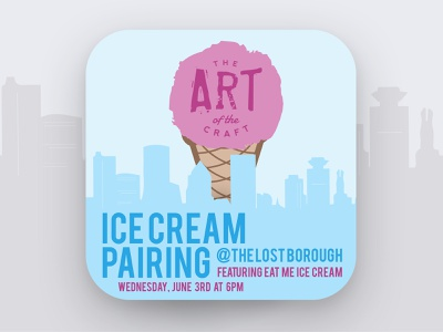 Art of The Craft - Ice Cream Cone Pairing🍦🍻 artofthecraft pairing icecream beer beer branding lostboroughbrewing brewery beer art