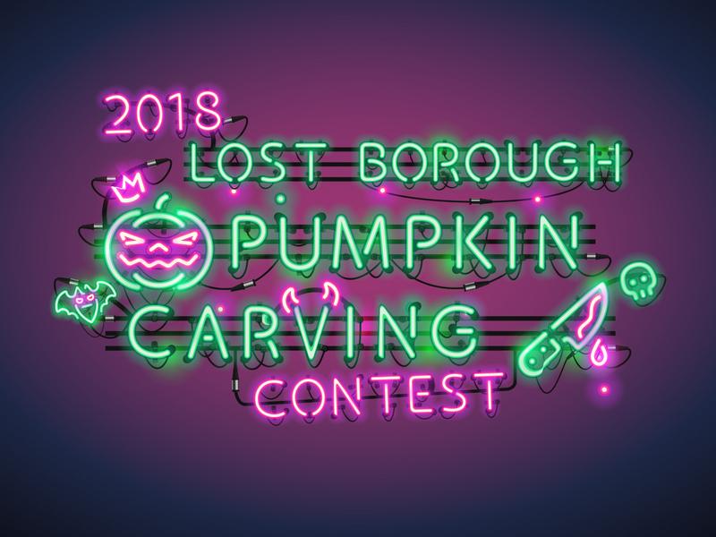 Pumpkin Carving Contest Artwork 🎃🔪🍺 contest carving pumpkin beer branding lostboroughbrewing brewery beer art