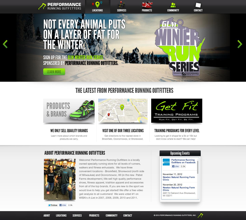 Full performance running website