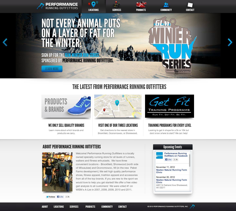 Full performance running website.