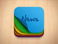 News App Icon Concept